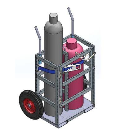gas cylinder crane cage tgc2 - Gas Cylinder Cages