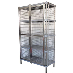 Mantova Security Cage fitted with Wire Shelves