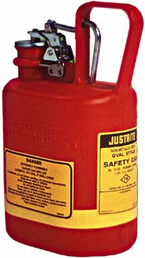 Justrite Type 1 Non-Metallic Safety Cans