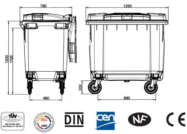 4 Wheeled MGB 660 Litre