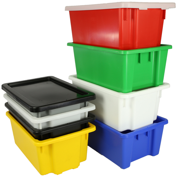 Okka 52 Litre Stack and Nest Plastic Storage Containers Food Grade #10