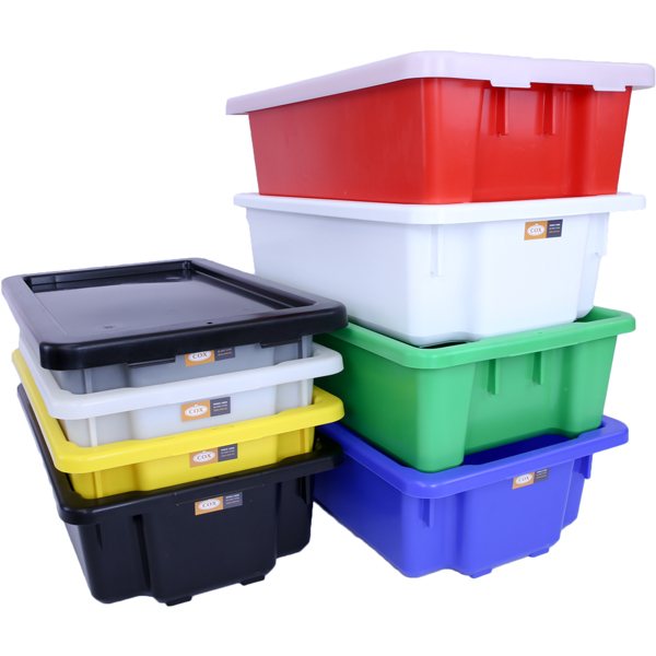 32 Litre Stack and Nest Storage Containers Food Grade #7