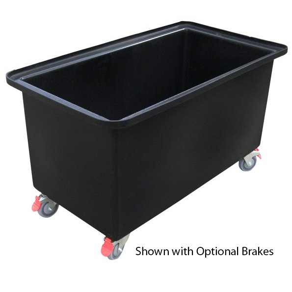 Heavy Duty 250 Litre Mobile Rotomoulded Polycon Straight Sided Plastic Tub