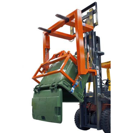 Forward Wheelie Bin Tipper - Forklift or Crane