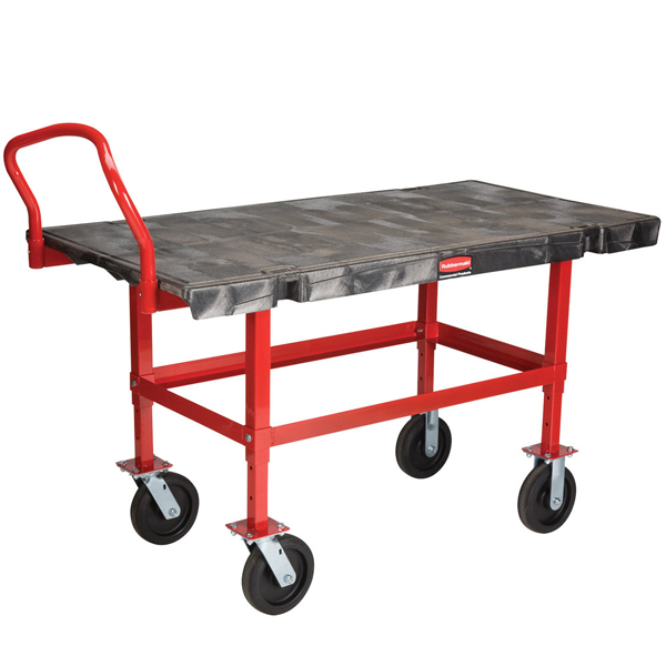 Rubbermaid 4473 Work-Height Platform Truck - Mobile Table