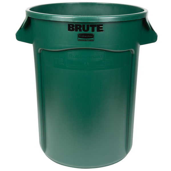 Rubbermaid 2632 BRUTE 122L Round Container and Accessories