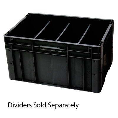 Stackable 60 Litre Tote with Optional Dividers - Recycled