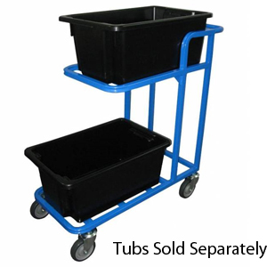 Two Container Multi Tier Binmate Order Picker Trolley