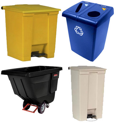Rubbermaid Garbage Bins