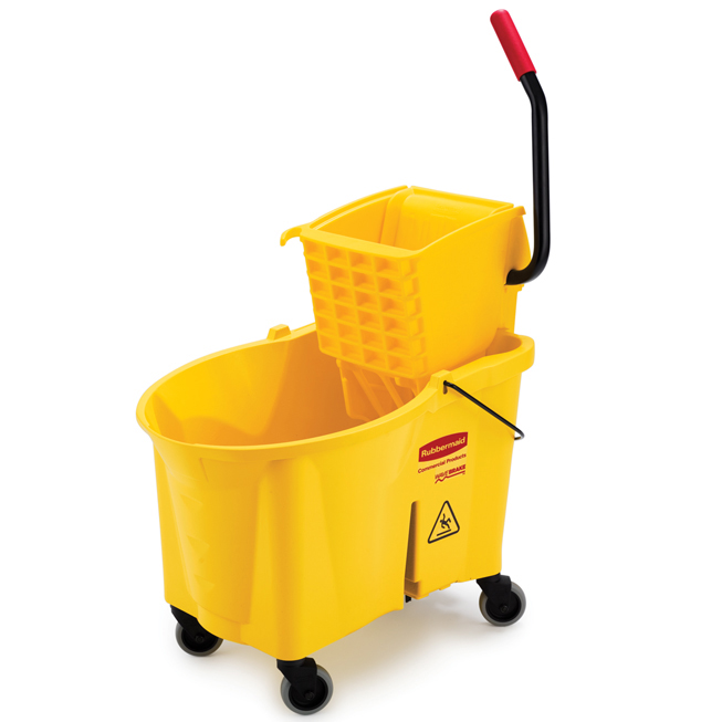 Rubbermaid 6186 88 Wavebrake Side Press Combo Mop Bucket
