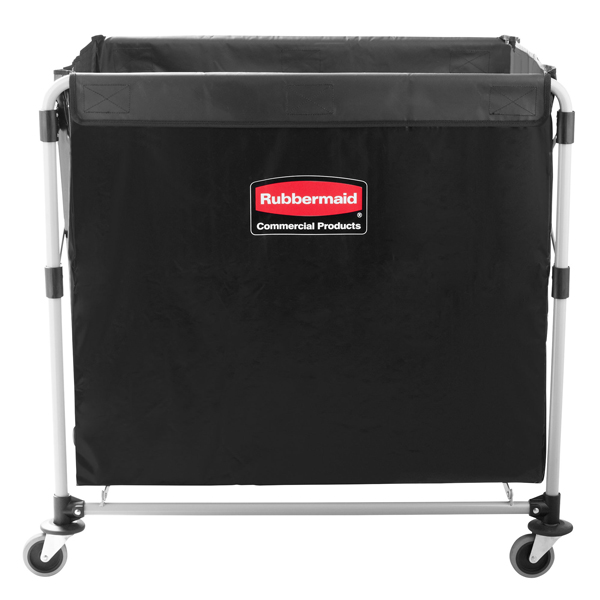 Rubbermaid X Cart Laundry Collapsible Linen Basket Truck