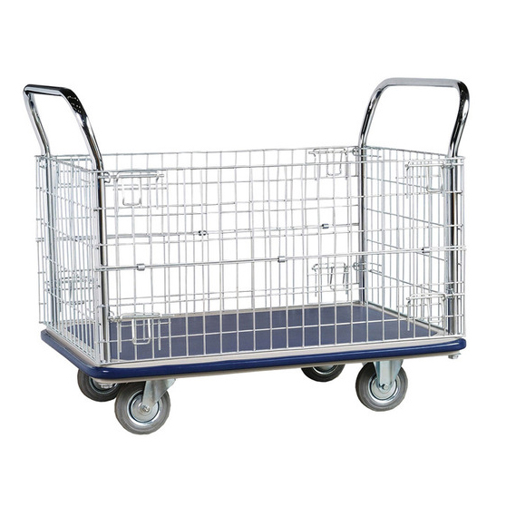 Jumbo Full Wire Cage Trolley with One Drop Door Side