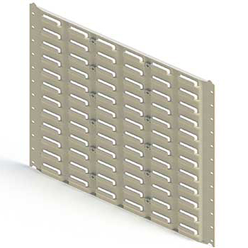 Plastic Wall Mounted Louvre Panels for Tech Bins