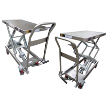 Stainless Steel Manual Hydraulic Scissor Lift Table