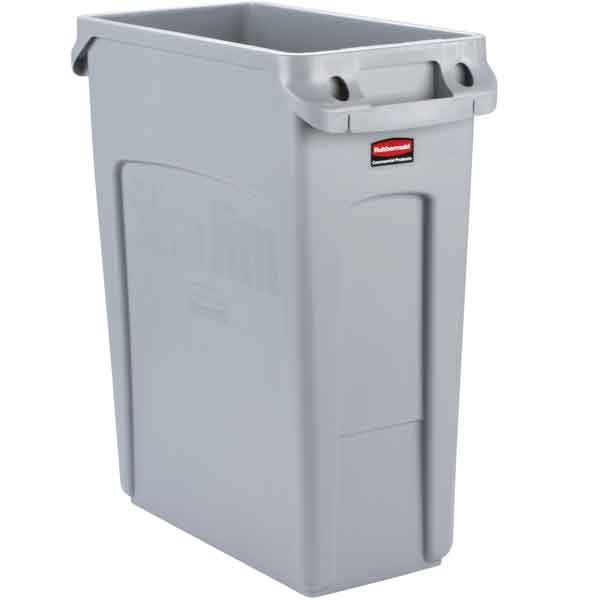 Rubbermaid Slim Jim Container with Venting Channels 60 Litre
