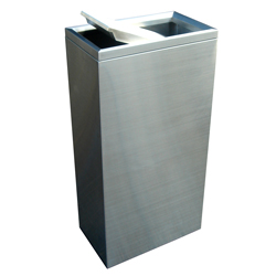 Compass 40 Litre Rectangular Stainless Steel Swing Bin