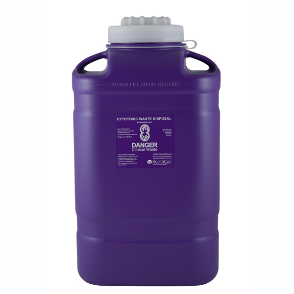 19L Clinical Waste Cytotoxic Sharps Disposal Container