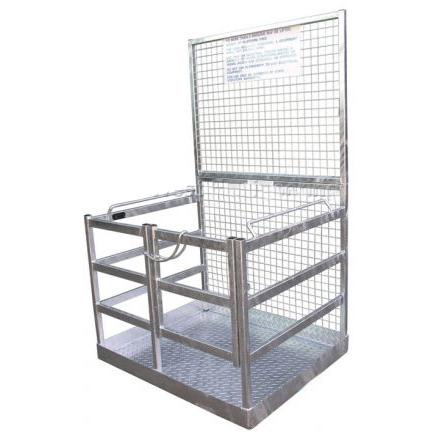 Work Platform Safety Cage for Forklifts - Galvanised