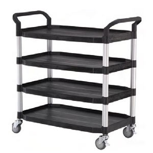 Quad Deck Service Trolley Cart