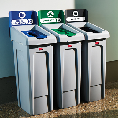Rubbermaid Slim Jim Recycling Station