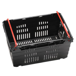 Nally Stack and Nest 46 Litre Vented Swing Bar Crate