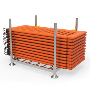 Stackable Post Pallet for Temporary Fence Panels