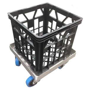 Nally Vented Industrial Quality Stacking Plastic Milk Crate