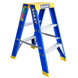 Big Top Fibreglass Punchlock 150kg Double Sided Step Ladder