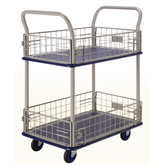 Prestar NB127 2 Tier Trolley with removable mesh sides