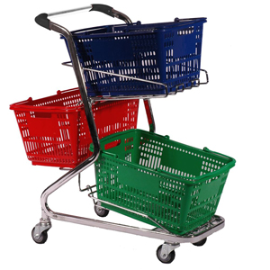 2-3 Basket Handy Shopping Trolley