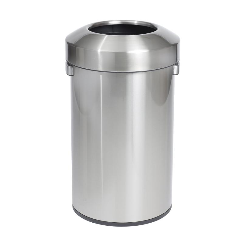 Compass Urban Stainless Steel Open Top 60 Litre Rubbish Bin