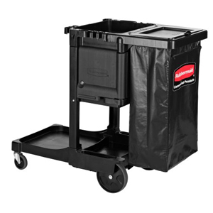 Rubbermaid Traditional Janitor Cart with Locking Cabinet and Waste Cover