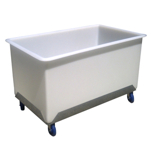 Heavy Duty Straight Sided 650 Litre Mobile Polyethylene Tub Trolley