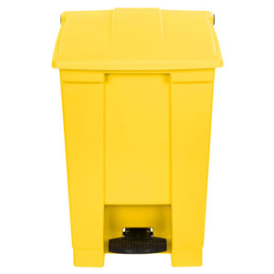 45L Yellow Rubbermaid Step on Container