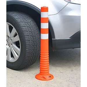 Flexible Bollard Highly Visible One Piece Flexible Plastic Flex Bollards