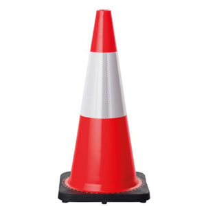 Fluorescent traffic cone with reflective sleeve - Witches Hats