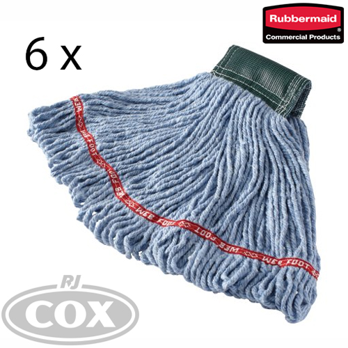 Rubbermaid Commercial Web Foot Wet Mops Medium - 6 Pack
