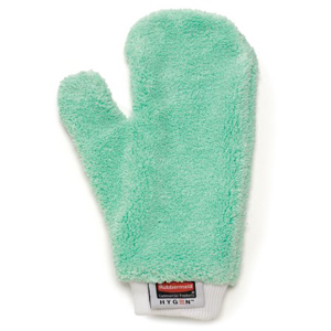 Rubbermaid HYGEN Green Microfiber Dusting Mitt with Thumb
