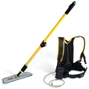 Rubbermaid Flow Floor Finishing System Backpack Mopping System