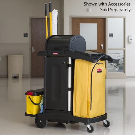 Rubbermaid High Security Healthcare Cleaning Cart 9T75