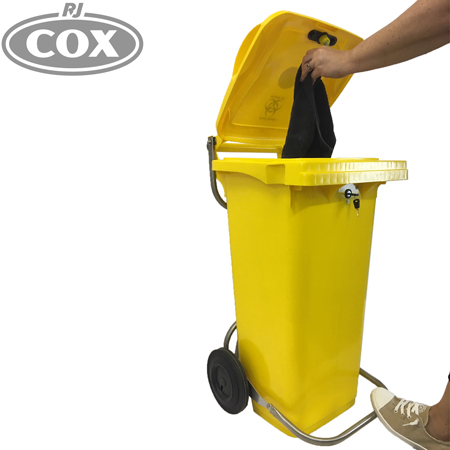 Hygienic Hands Free Foot Operated Key Lockable Clinical Waste Bin