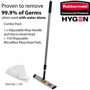Rubbermaid HYGEN Mop and Disposable Microfibre Pad Set