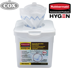 Rubbermaid HYGEN Disposable Microfibre Single Use Cloth with 99.9% Germ Removal
