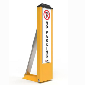 Fold Down Bollard for controlled vehicle access