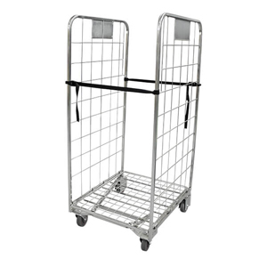 2 Sided Roll Cage Supermarket Trolley