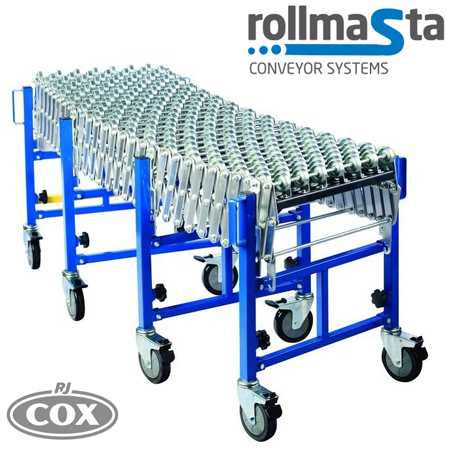 Rollmasta Heavy Duty Skate Wheel Expandable Flexible Conveyor