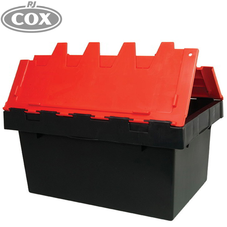 Security Crate with attached Lockable Hinging Lid