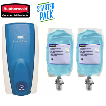 Rubbermaid Automatic Auto Foam Dispenser - Starter Pack