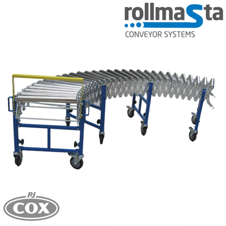 Rollmasta Heavy Duty Steel Wheel Expandable Conveyor