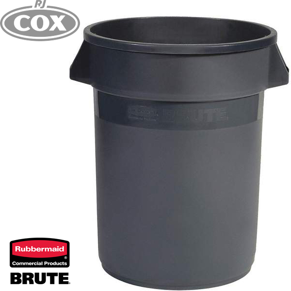 Rubbermaid Non-Vented Grey 76 Litre Brute Containers